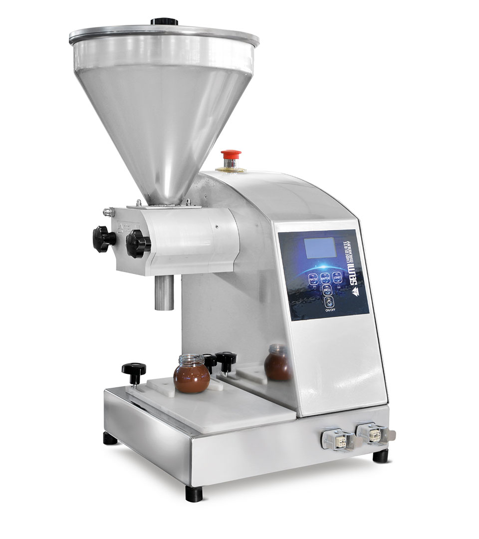 Filler Vasi: pot filler. Spread cream filling machine